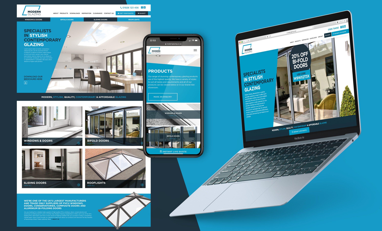 Modern Glazing website development
