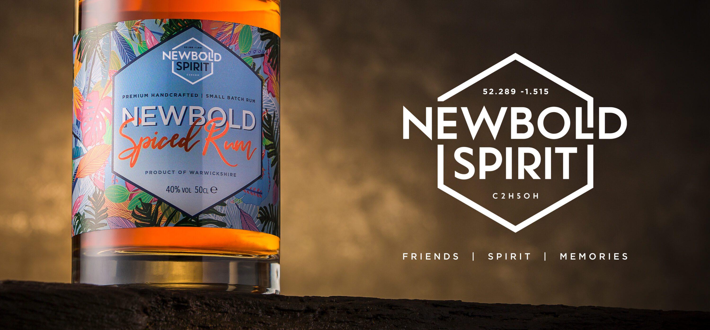 Newbold Spirit label design