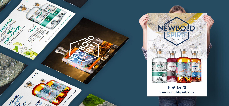 branding design Newbold Spirit